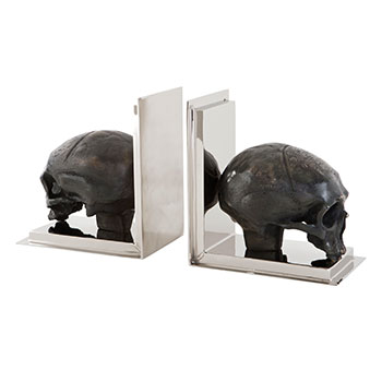 Bookend Skull Set of 2